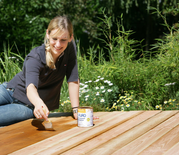 Natural garden furniture and decking care